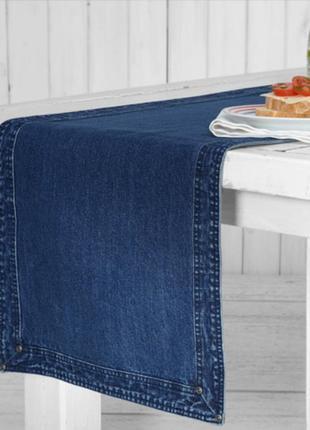 Стильная, джинсовая дорожка-раннер