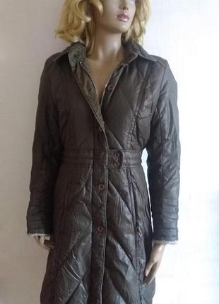 """Пуховое пальто / куртка на пуху с вельветовой отделкой """"tommy hilfiger"""""""