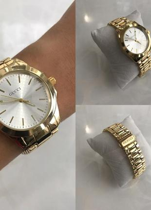 Женские наручные модные металлические часы золотистые4 фото