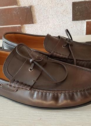 Кожаные туфли,мокасины massimo dutti