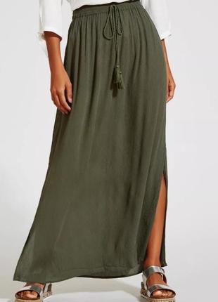 Длинная юбка с разрезами / юбка maxi papaya