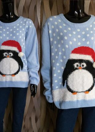 Весенняя распродажа/  свитер новогодний принт atmosphere размер medium uk 12-16 наш 46-50