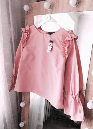 Нежная блуза с бусинками