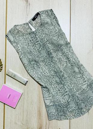 Шикарная шифоновая блузка в заметный принт by oasis