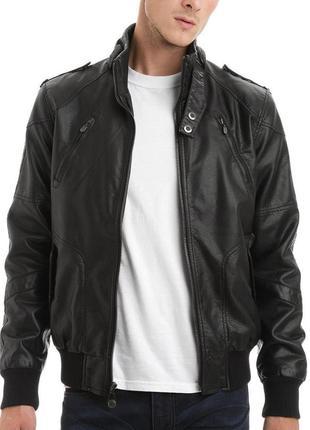 Мужская кожаная куртка! натуральная кожа! размер s/m