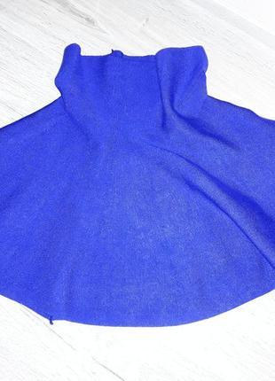 Фиолетово синяя юбка солнце трикотажная стрейчевая теплая