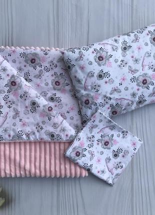 Плед, подушка и простынка