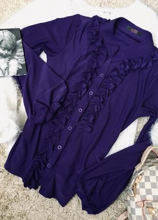 Блуза с рюшами и оборками 😈🔮💜обмен
