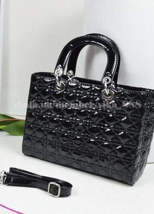ada14396ceb3 Женская лаковая сумка в стиле dior 2 размера, цена - 320 грн ...