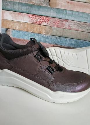 Новые кожаные кроссовки ecco intervene boa