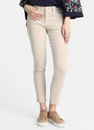 Бежевые джинсы зауженные скини средняя посадка gap p.10