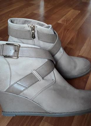 Ботильоны кожаные clarks размер 40,5