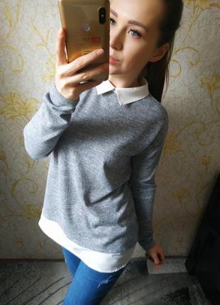 Красивая кофта с имитацией блузки