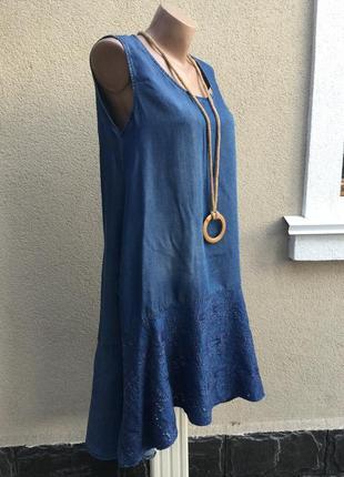 Платье,сарафан,туника,джинс,удлинен.спинка,карманы,кружево по низу.этно,бохо стиль.