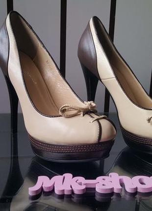Женские туфли на каблуке фирмы blue tempt 265