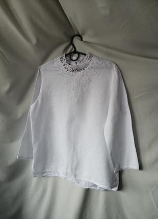 Блузка льяна.блуза.рубашка