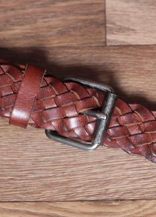 Ремень шкіряний плетений carhartt. оригінал італія стан відмінний! max w42