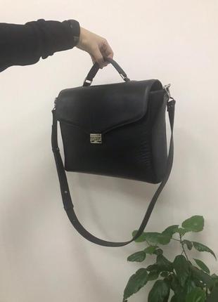 Стильный кожаный портфель-сумка (унисекс)