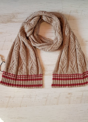 Теплый вязаный шарф tommy hilfiger
