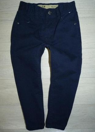 Темно-синие котоновые брюки, джинсы denim 5-6 лет