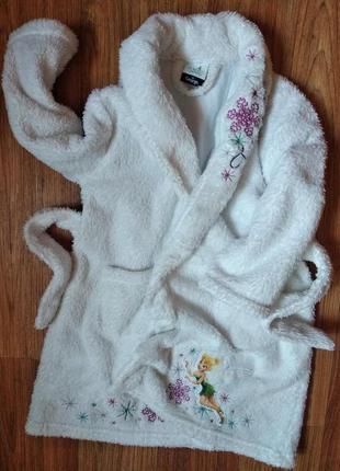 Красивый плотный махровый халат на 2-3 года
