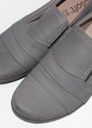Go soft нубуковые закрытые туфли на удобном каблучке кожаные