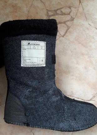 Сапоги ботинки viking 33р  длина валенка 22см на ножку 21-21,5см3