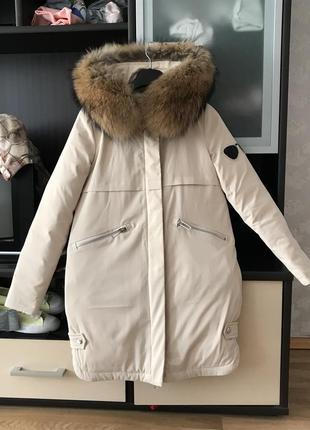Парка куртка пуховик новая с натуральным мехом распродажа