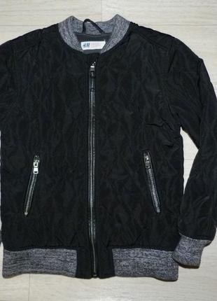 Стеганная демисезонная куртка, бомбер h&m 7-8 лет