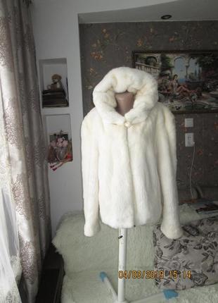 Роскошная норковая шуба капюшон 48р.
