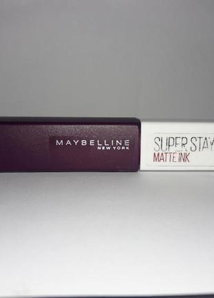 Матовая помада maybelline superstay matte ink. помада. жидкая помада. матовая помада