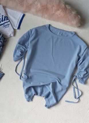 Нереально красивая трикотажная блуза кофта с интересными рукавами от next
