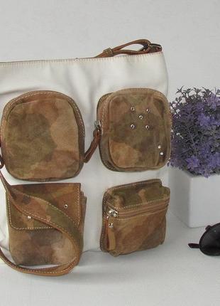 Оригинальная сумка, италия, текстиль, кожа