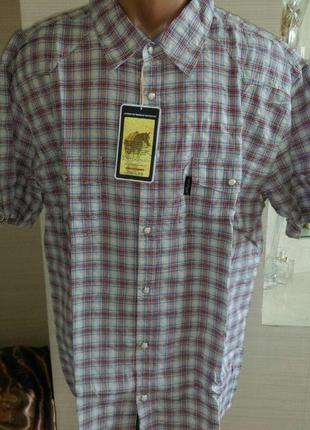 Легкая рубашка из жатой ткани на кнопках