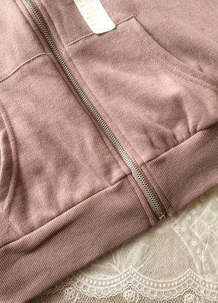 Кофта-худи пыльно-розового цвета3 фото