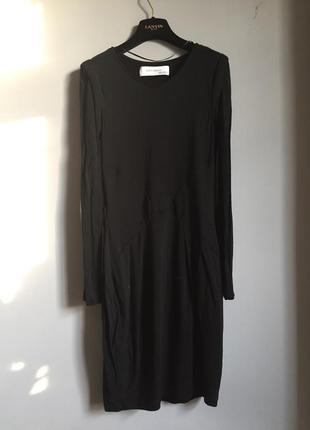 Серное вечернее платье футляр zara women в обтяжку
