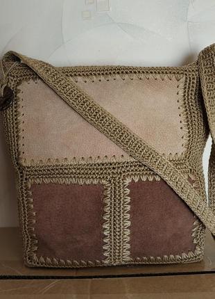 Вязанная сумка через плече/на плече