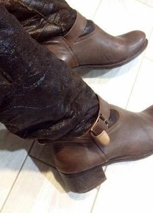Демисезонные сапоги италия 25,5 см/ 39 размер