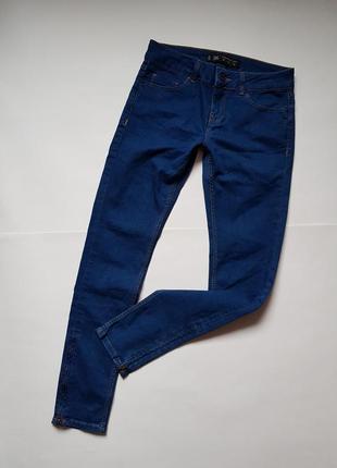 Стильные джинсы,синие джинсы с замочками,узкие джинсы,базовые синие джинсы посадка обычная