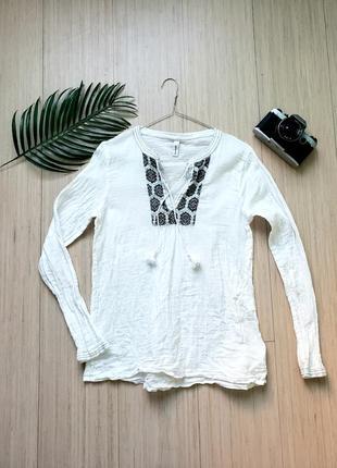 Рубашка/блузка/ вышиванка в стиле бохо с вышивкой