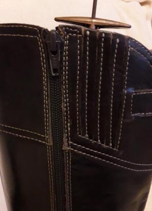 Кожаные сапоги  фирмы tommy holfiger p. 40-41  стелька 26,5 см8