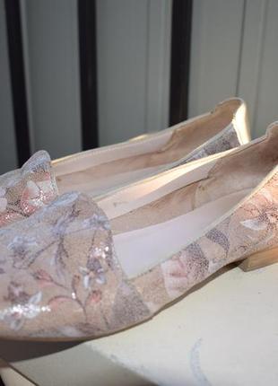 Кожаные туфли лоферы слипоны manfield франция р.38 24,7 см