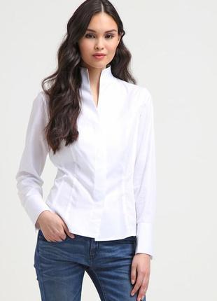 Белая фактурная рубашка от van laack! p.-42