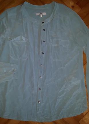 Шелковая бирюзовая итальянская блуза от italy 0039! p.-s