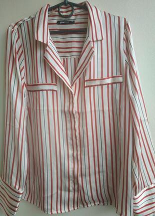 Стильная блуза в пижамном стиле gina tricot