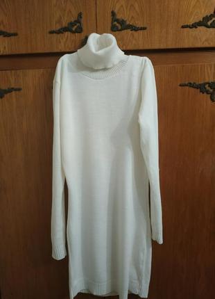 Женский голь,платье гольф,вязаное платье, свитер платье