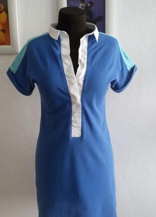 Короткое! брендовое х/б платье в тенисном стиле