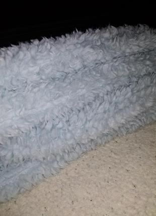 Обьёмный и пушистый шарф-хомут