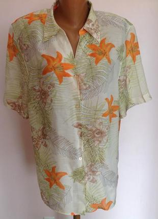 Большая вискозная блуза. /48/ brend fashion classics