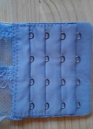 Голубой лиф с широким кружевом 85 а/в3 фото